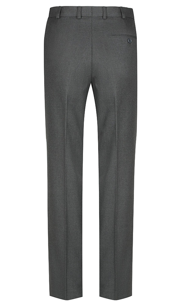 Dark Grey Boys Extendable Waist College Trouser