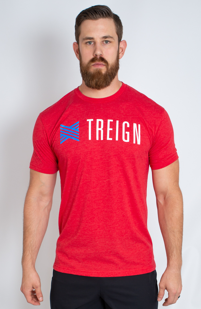 Men's Red USA T-shirt