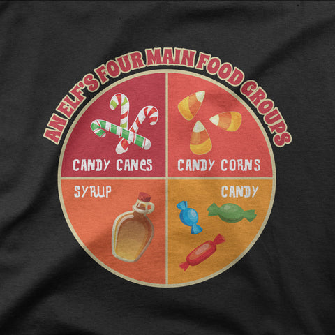 Elf's Four Food Groups - CD Universe Apparel