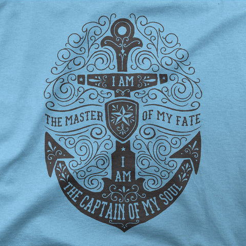 I am the master of my fate, I am the captain of my soul - CD Universe Apparel