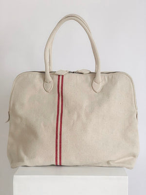 e.n_bags | BIG CANVAS CARRYALL | RED STRIPES