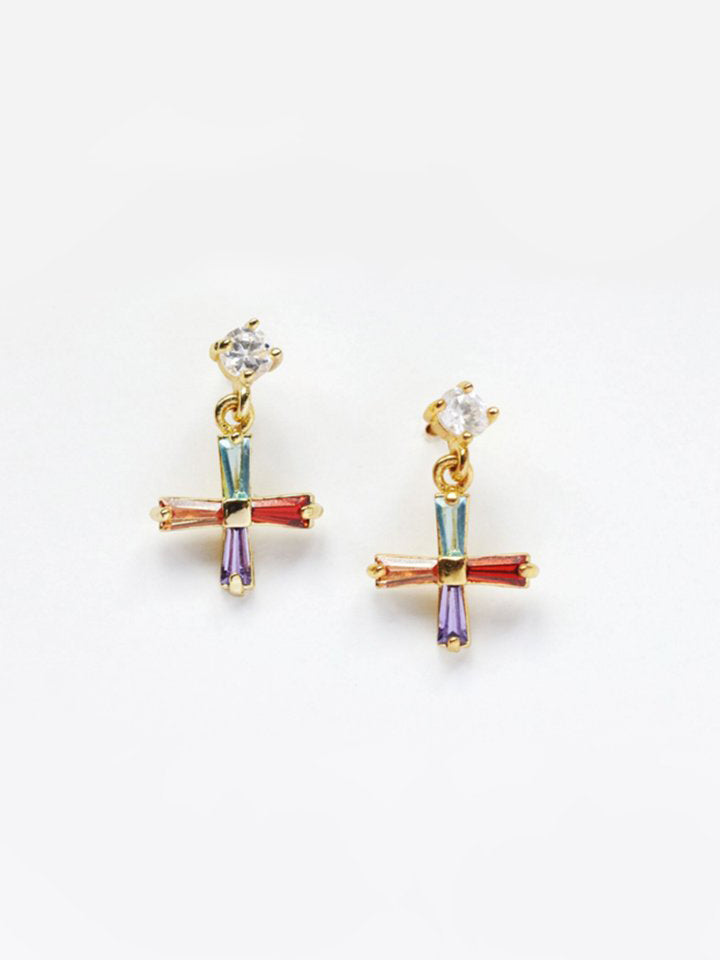 RELIQUIA | MINI CROSS EARRINGS