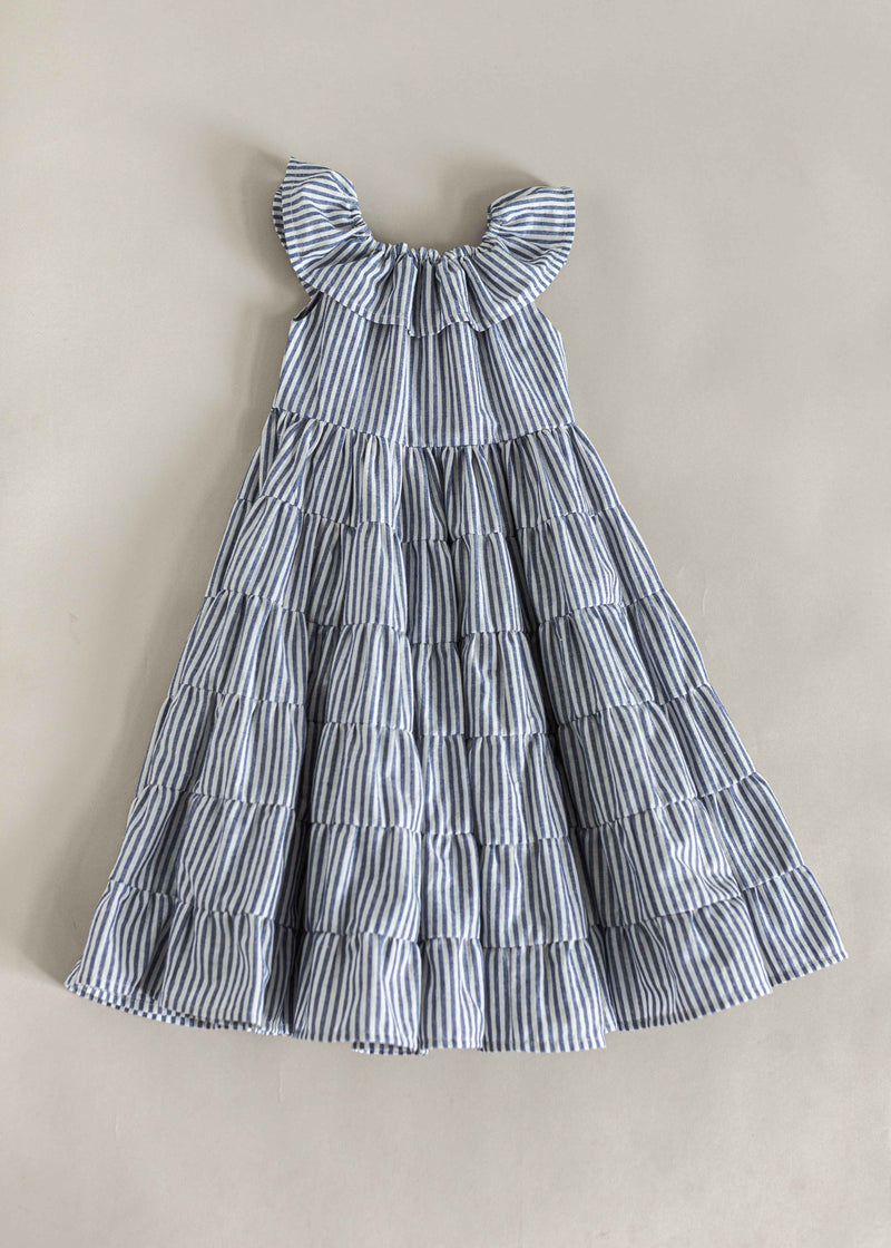 LAUNA DRESS | NAVY STRIPE