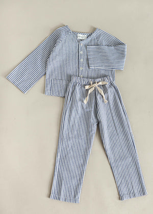 MARIUS PYJAMA SET | NAVY STRIPE