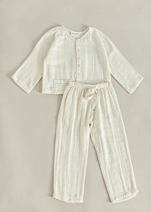MARIUS PYJAMA SET | OFF WHITE