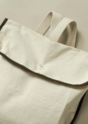 PIERRE BOOK BAG | NATURAL MARTINI OLIVE