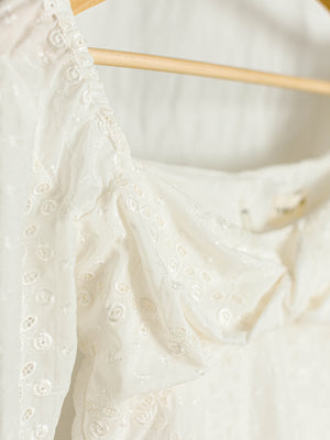 LUDIVINE TOP | BRIDAL WHITE