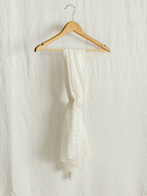 SCARF | BRIDAL WHITE