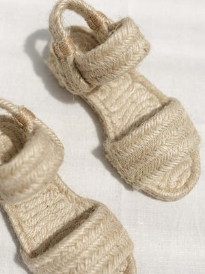 CHILDREN'S ROPE SANDALS | NATURAL