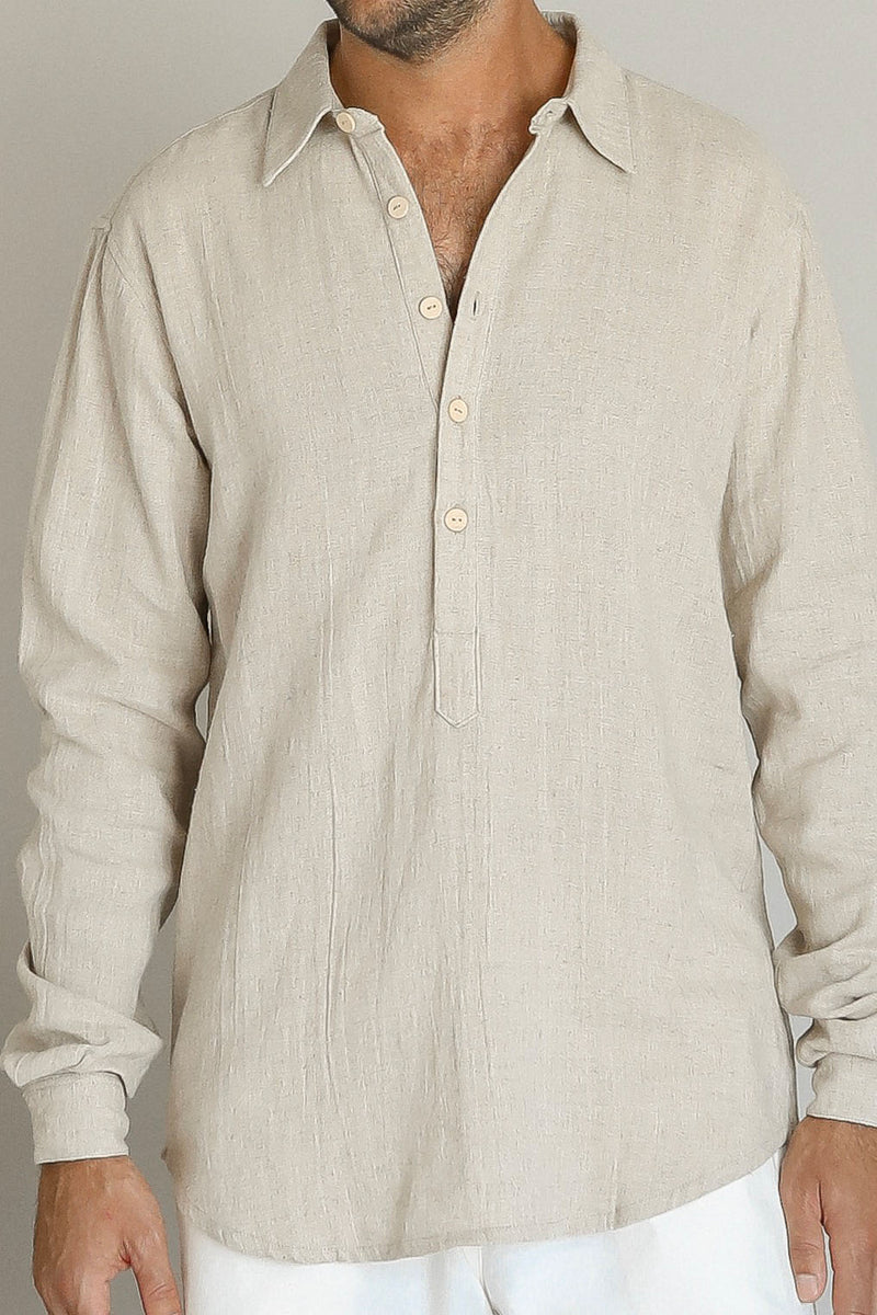 ALDOUSE SHIRT | GREY LINEN