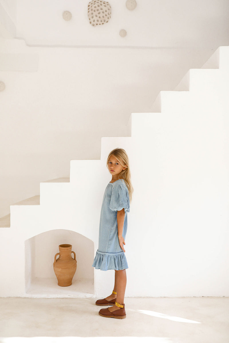 PRE-ORDER | ALDA DRESS | SWEDISH BLUE