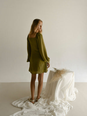 DAPHNÉ DRESS | MARTINI OLIVE