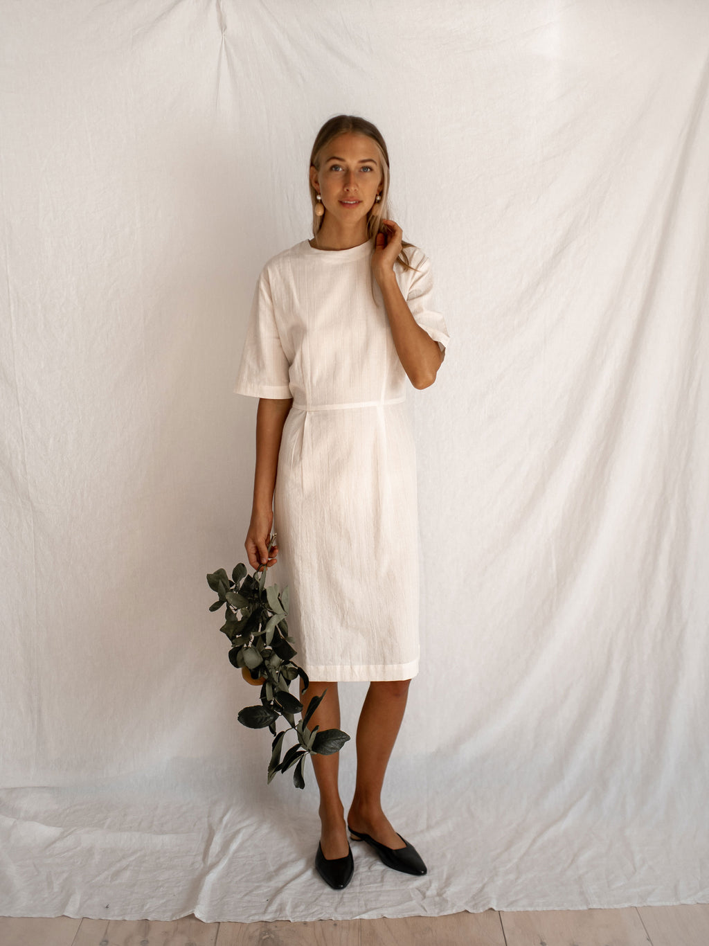 OSWIN DRESS | EMBROIDERED CREAM