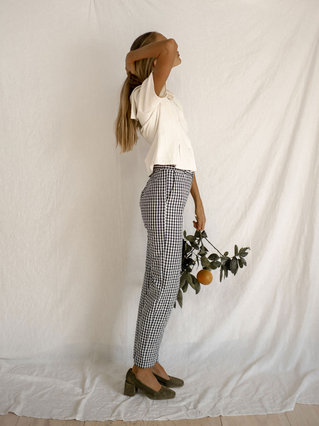FELICITY TROUSERS | NAVY GINGHAM
