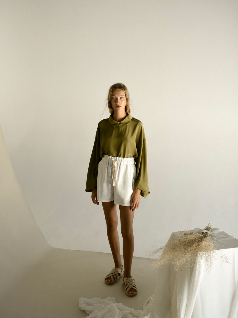 EDMONDE BLOUSE | MARTINI OLIVE
