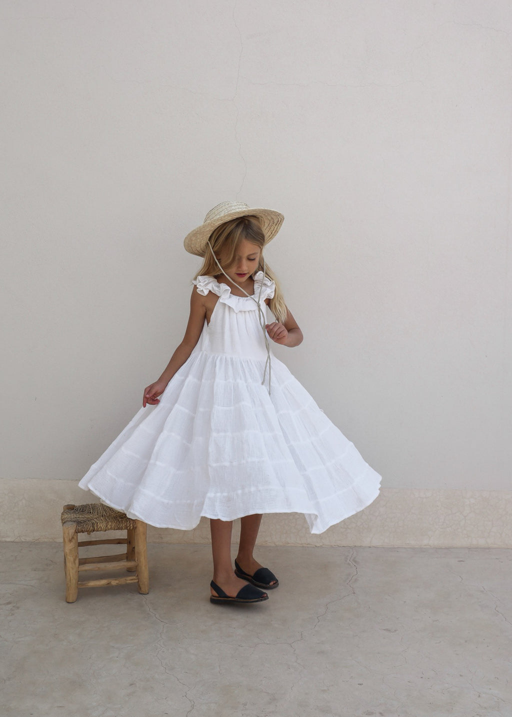 LAUNA DRESS | WHITE