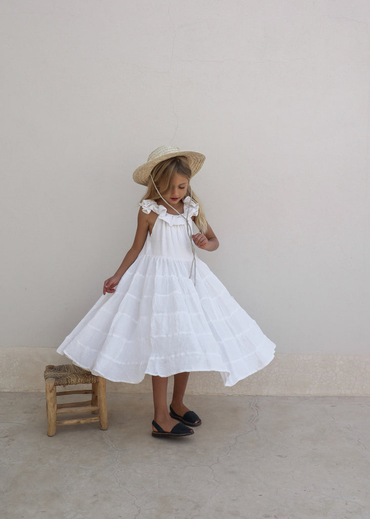 PRE-ORDER | LAUNA DRESS | WHITE