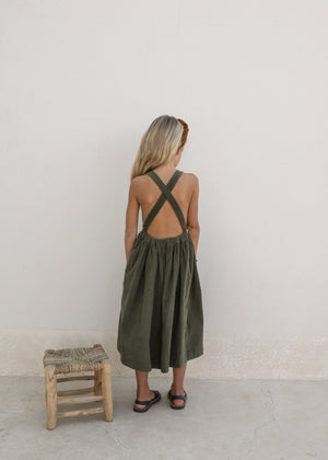 VALERIANE DRESS | MARTINI OLIVE