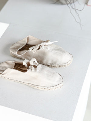 Women's Handmade Canvas Shoes | Natural