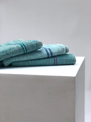 AUNTIE OTI | CHAMBRAY TOWEL | SEA FOAM