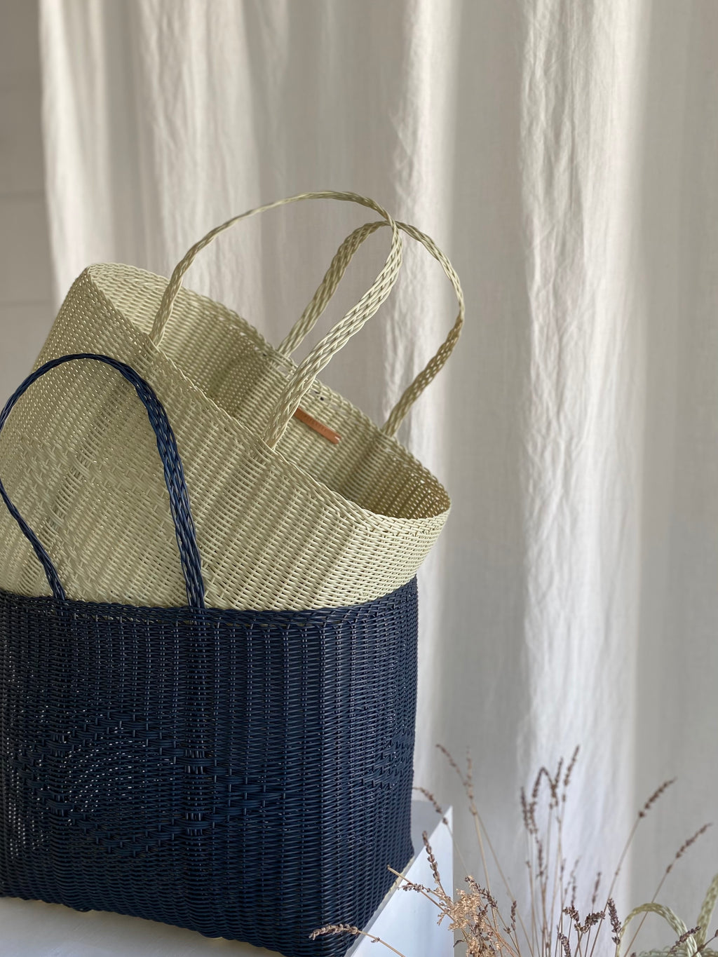 PALOROSA | BASKET | MIDNIGHT BLUE | LARGE