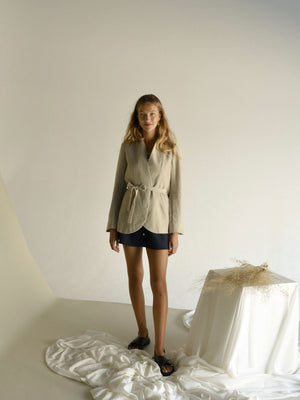 BERTA BLAZER | NATURAL