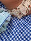 AUNTIE OTI | COTTON SHEET | GINGHAM BLUE