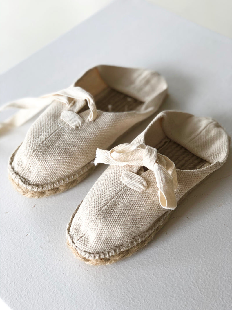 Children's Handmade Canvas Shoes | Natural
