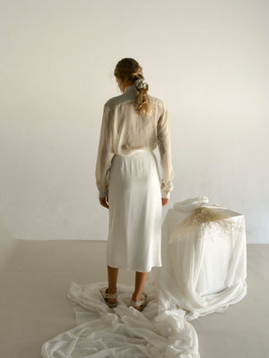 LAURE WRAP SKIRT | UNDYED