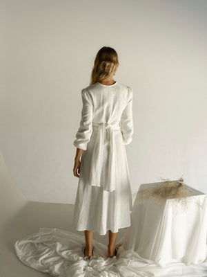 MAELA DRESS | WHITE WEAVE
