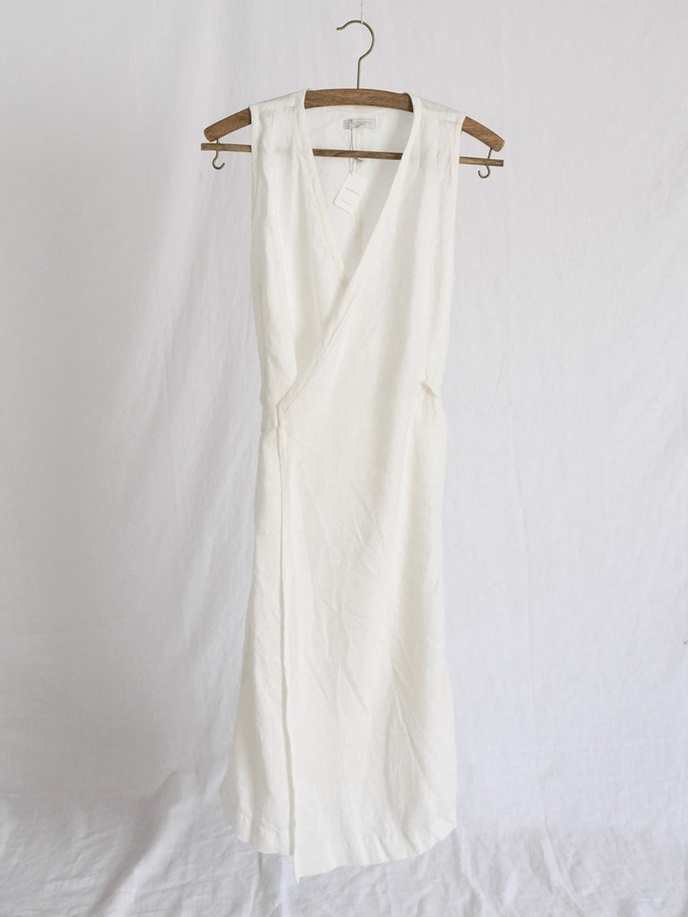 Fog Linen | Linen Salon Dress | White