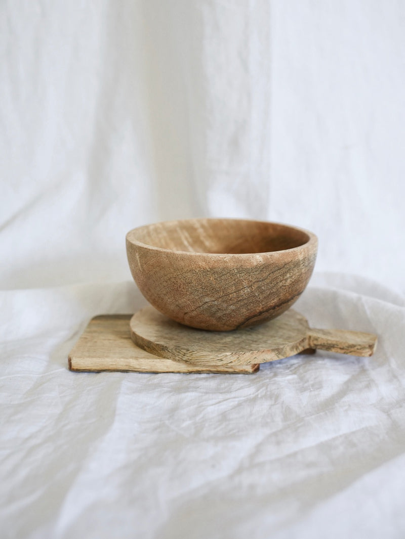Fog Linen | Mango Wood Bowl | Small