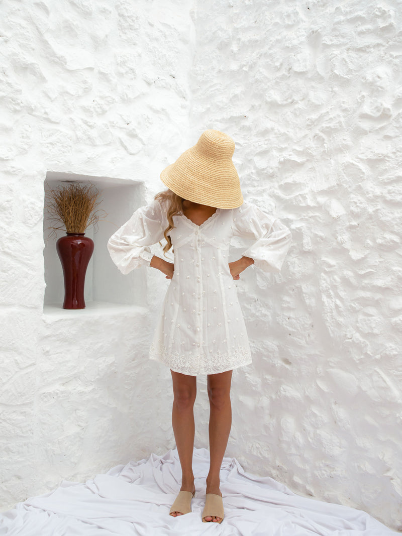 TOMNA DRESS | WHITE