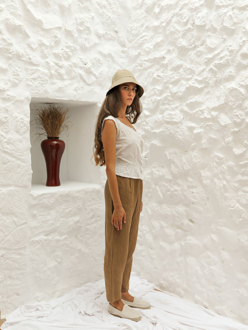 RÁUL TROUSERS | BROWN