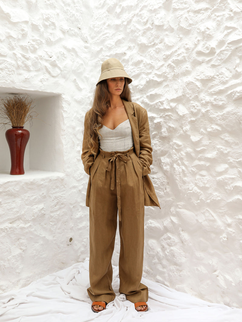NÉLIDA TROUSERS | BROWN