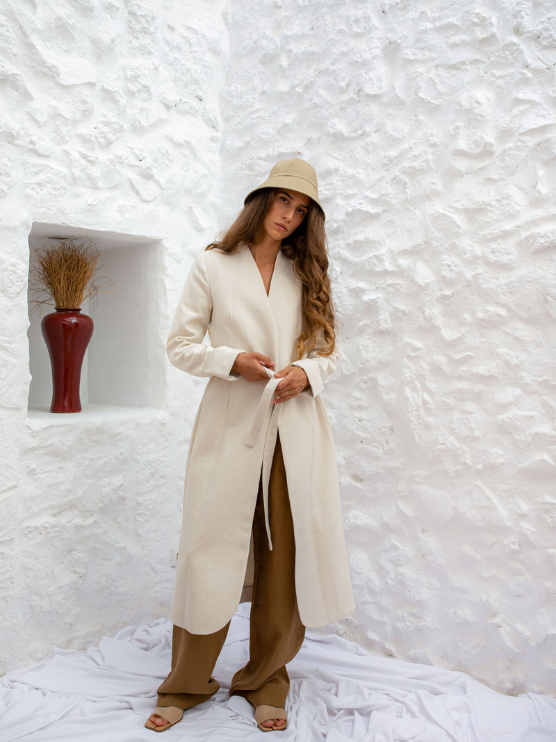 PRE-ORDER | BIRGIT LONG BLAZER | NATURAL