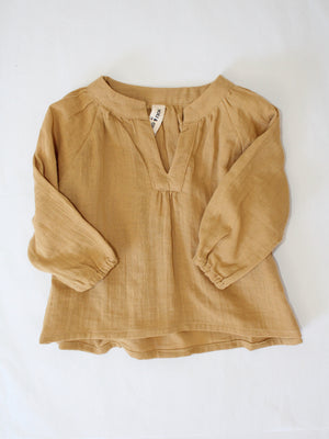 MINI DANNE BLOUSE | Dark Tan