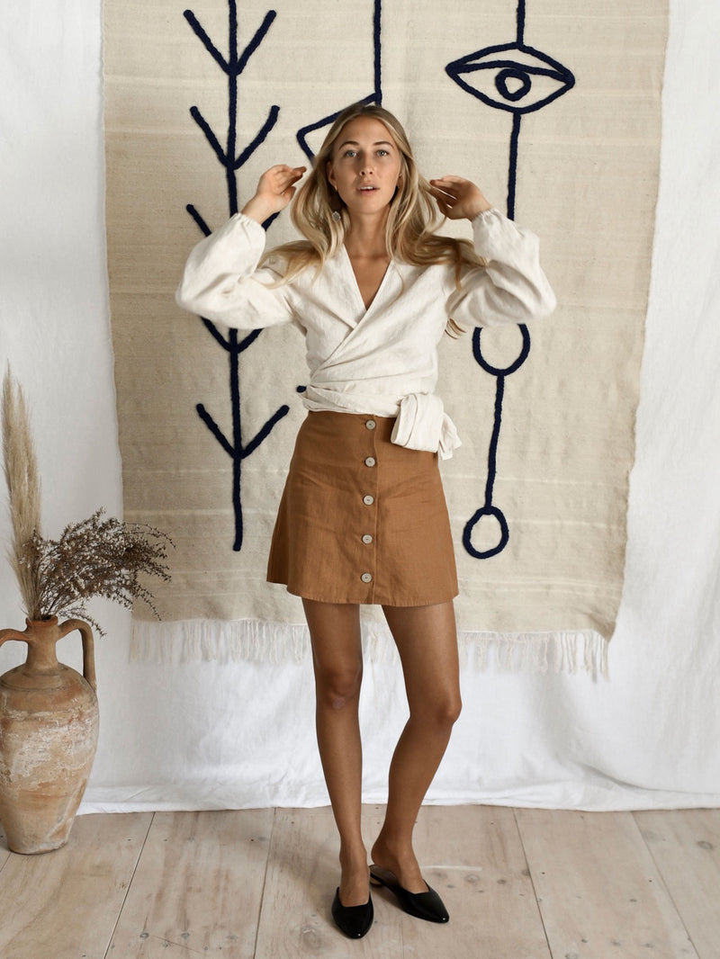 LAOISE SKIRT | RUST