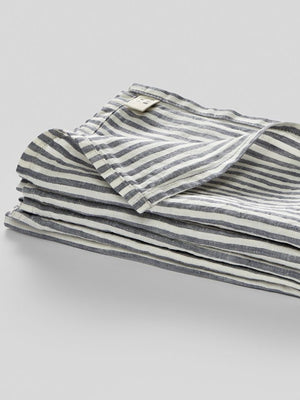 IN BED | NAPKIN SET | BLUE & WHITE STRIPE