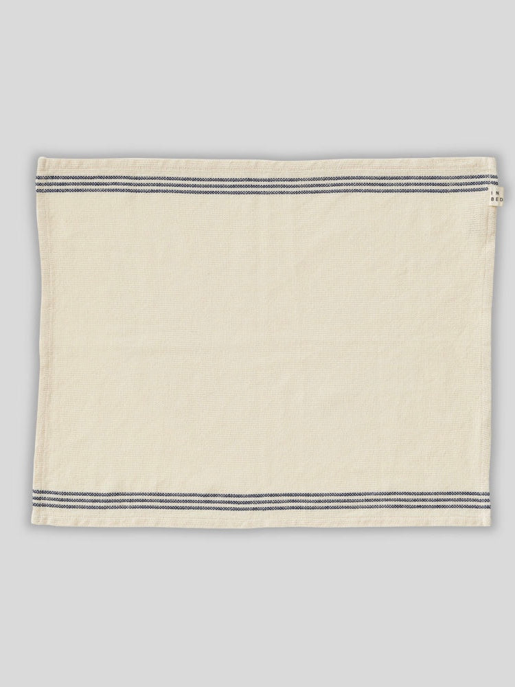 IN BED | PLACEMAT SET | NAVY STRIPE