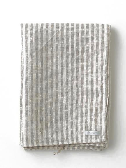 FOG LINEN | CHAMBRAY TOWEL | WHITE STRIPE