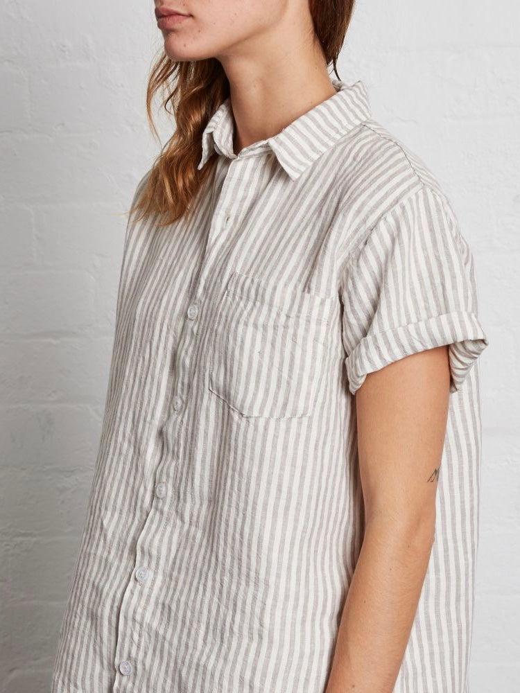 IN BED | SHORT SLEEVE SHIRT | STRIPE