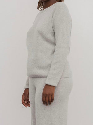 BASERANGE | RIBBED CREWNECK | KIM GREY