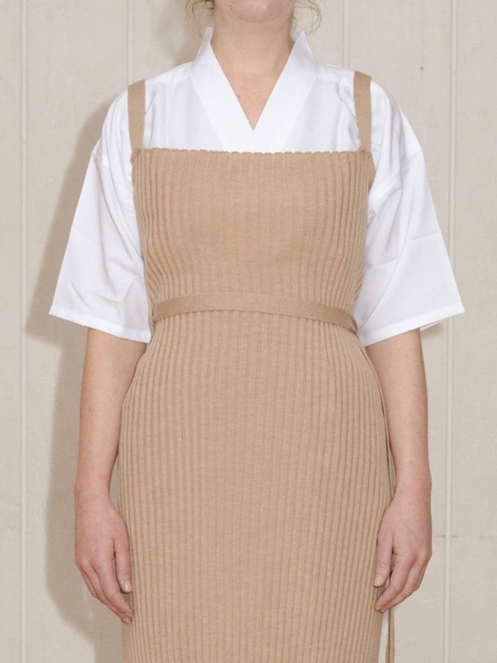 Baserange | Maru Apron Dress Wool Rib