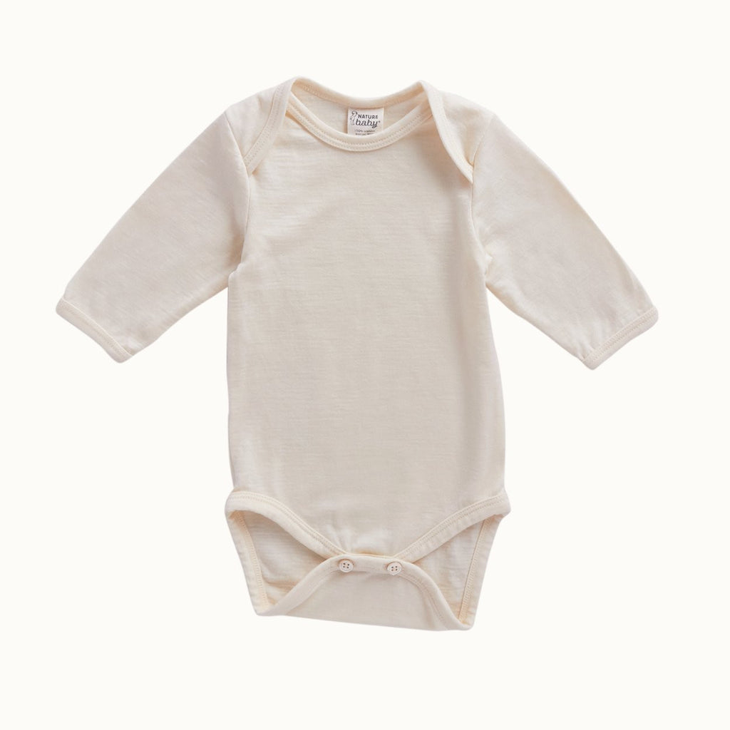 Nature Baby Cotton Long Sleeve Bodysuit