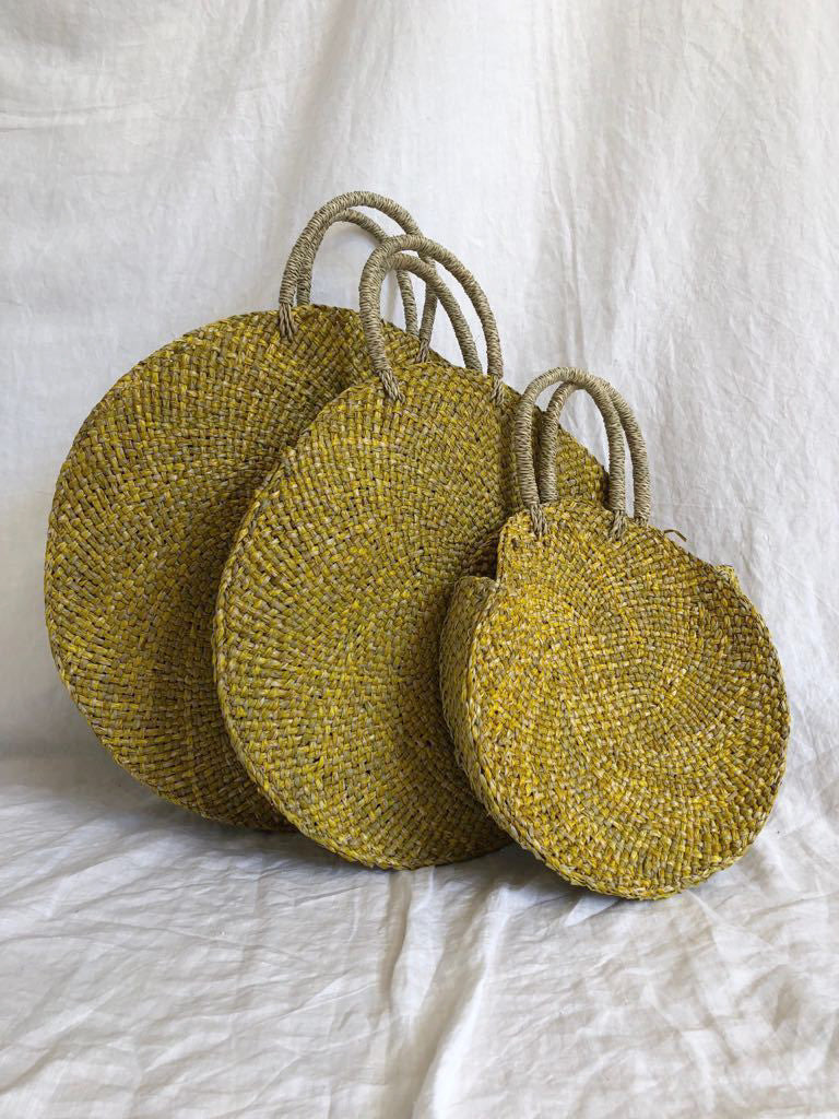 STRAW BAG | YELLOW