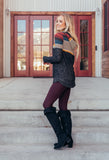 SA Exclusive Burgundy Solid Leggings