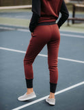 SA Exclusive Burgundy and Navy Joggers