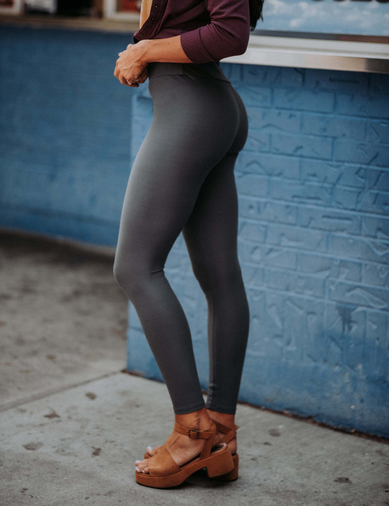 SA Exclusive Charcoal Solid Leggings