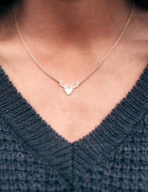 Dainty Reindeer Necklace